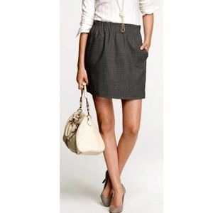 J. Crew Charcoal Linen (size 2) Pull-on Bell Skirt